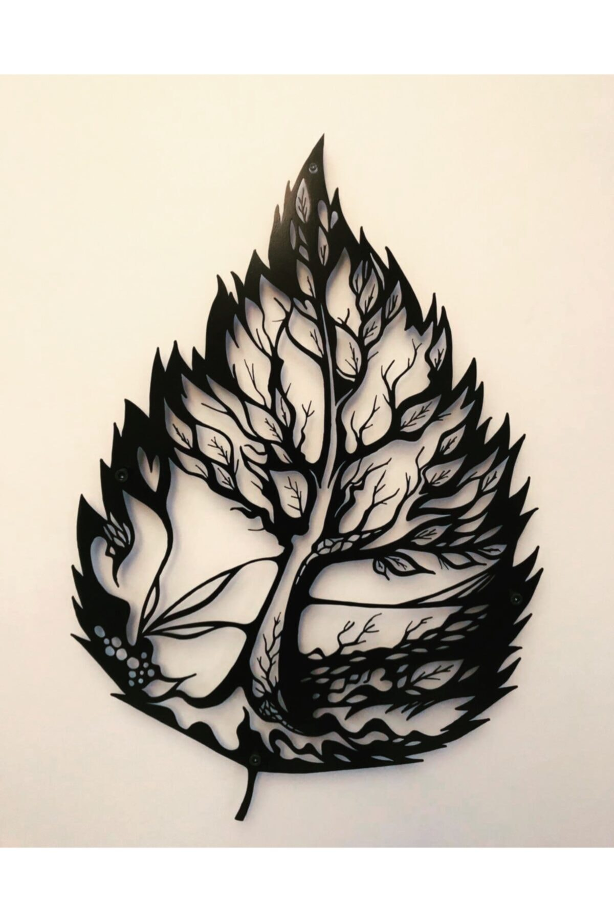Leaf Pattern Decorative Metal Table