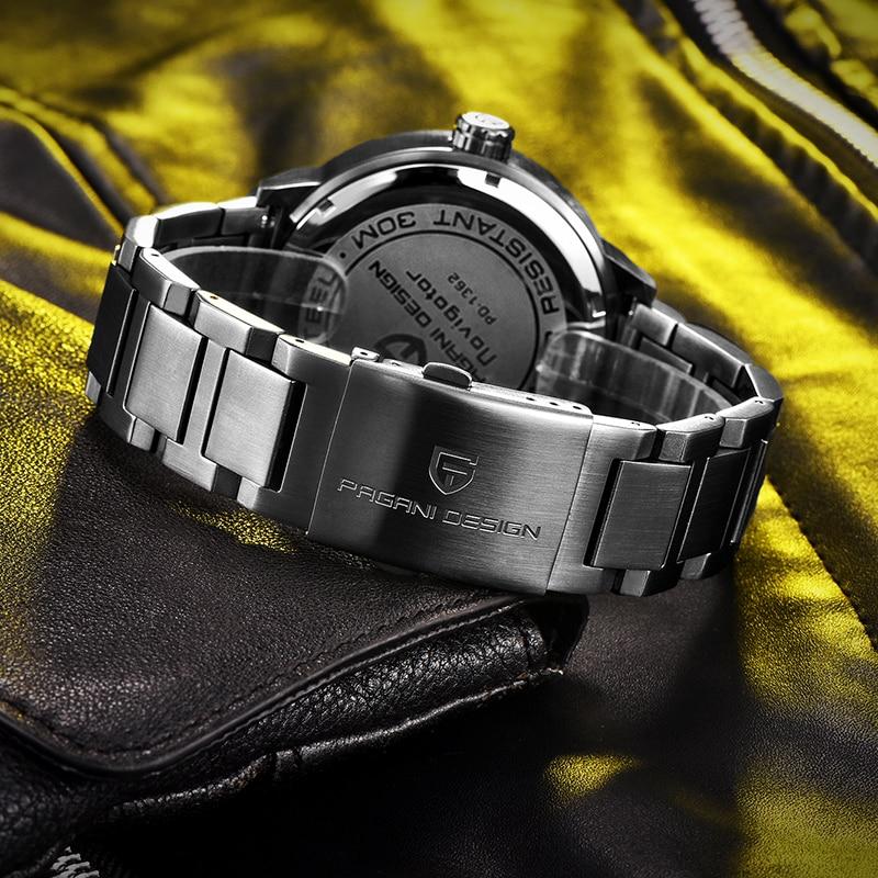 PAGANI DESIGN New Fashion Luxury Quartz Chronograph Stainless Steel Men's Watch 30M Waterproof Japanese 2025 Movement enlarge