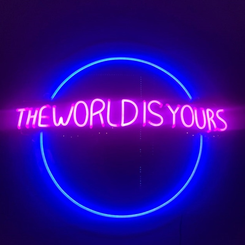The World Is Yours Neon Sign Led light Custom Neon Sign Neon Lights Home Store Bar Art Wall Decor Gift enlarge