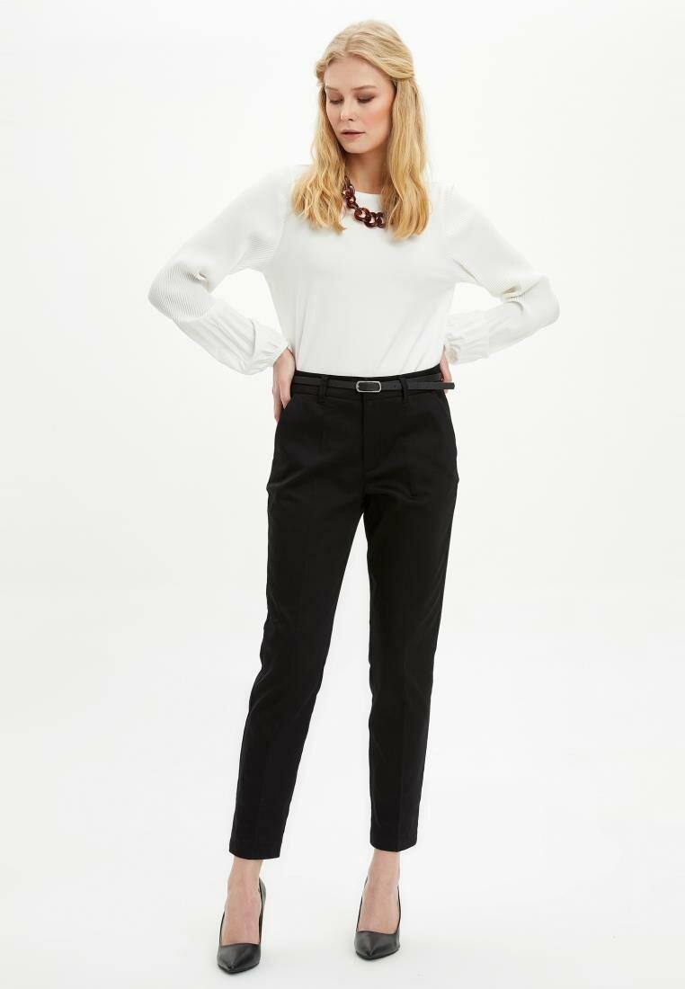 Defaw Mujer Pantalones mujer primavera pantalones pitillo Casual mujer Color liso ajustada Bottoms Trousers-N1152AZ20SP