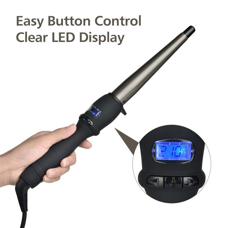 Modelador de cabelo cerâmico curling ferro elétrico