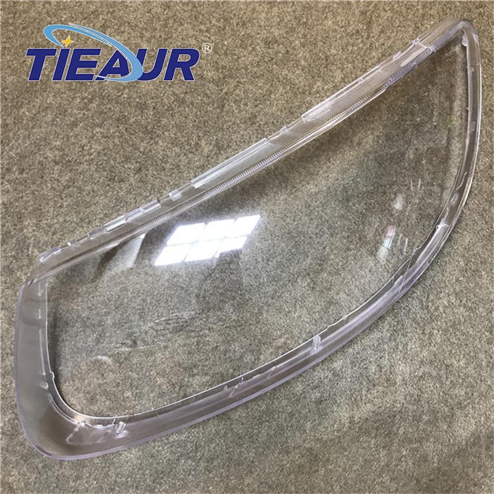 Cubierta de lente de cristal transparente para Hyundai Santa Fe faro claro Auto-Shell-cubierta 08-12 reemplazo DIY