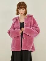 obrix faux fur female trendy fur coat square collar full sleeve streetwear fashion fur coat for women