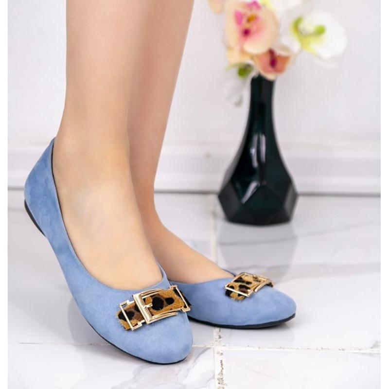 Zapatos de bailarina Alys Bebe Blue Süet, tacón, vestido, aire, red, plano, plataforma, tela, redondo, furgoneta, cuero, gel, sandalias antideslizantes