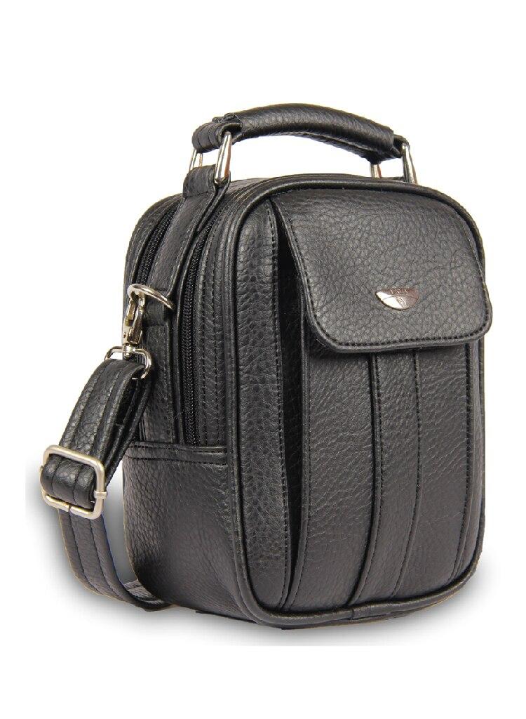 New Alonebag Steel Case Men's Genuine Leather Shoulder Cross-Body Messenger Bag Multi-Pocket Purse Soft Handbag