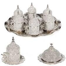 Conjunto de 6 copos de café turco swarovski feito na turquia árabe conjunto de café artesanal conjunto de copos de chá conjunto de café espresso conjunto de cobre