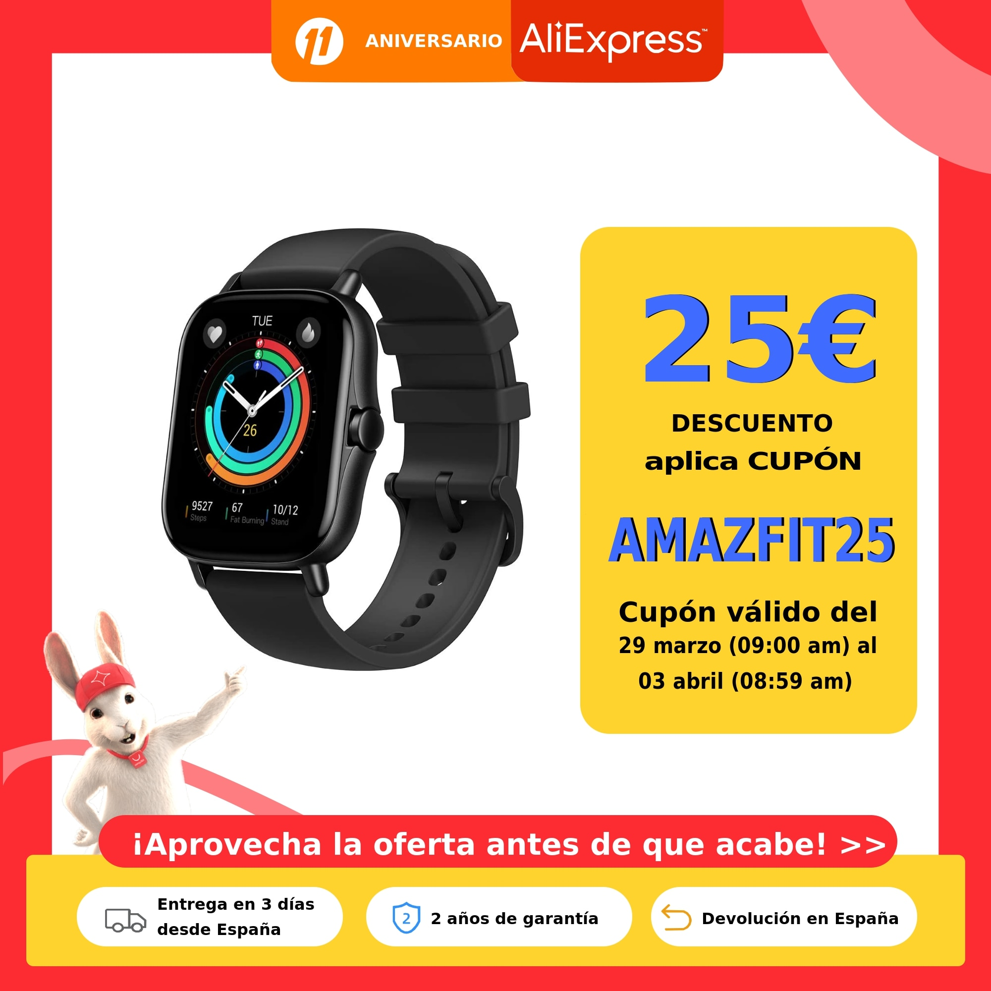 Amazfit GTS 2,Reloj inteligente,Pantalla AMOLED,Música,5ATM,Control del sueño,12 modos deporte exterior,Smartwatch android IOS