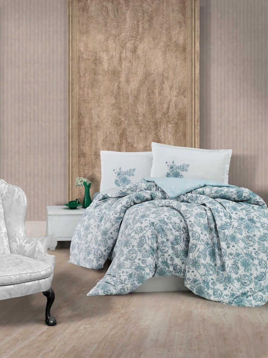 طقم سرير عالي الجودة من القطن 100% رمادي مزدوج حجم الملك المعزي مجموعة مفروشات فاخرة حديثة لحاف غطاء لحاف pilowcase