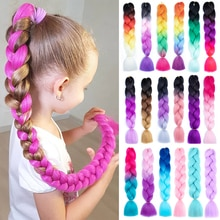 24 Inch Synthetic Braiding Hair Extensions for Braids Ombre Colored Expression Jumbo Braids Hair 100