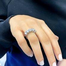 Special Design Diamond Montür Silver Dibs Ring