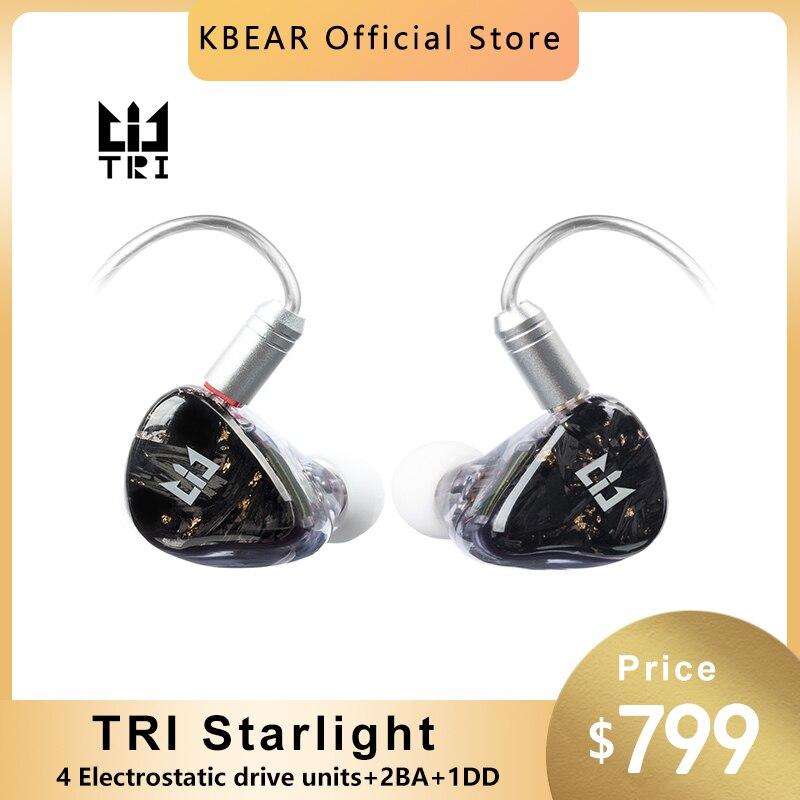 سماعة ثلاثية نجوم 4 EST + 2BA + 1DD HIFI سماعة هجينة داخل الأذن سماعات أذن تعتمد SONION 2389 سماعة رأس Sport TRI I3 Starsea