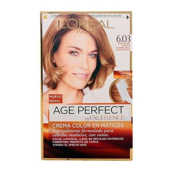 Tinte Permanente Antiedad Excellence Age Perfect LOreal Expert Professionnel Rubio oscuro