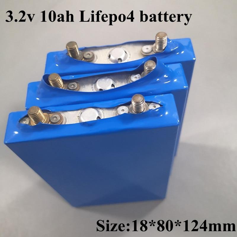 12 шт 3,2 v 10ah Lifepo4 батарея 30A разрядные аккумуляторные батареи для 36V 24v 12v батареи Diy электроинструменты батарея для электровелосипеда