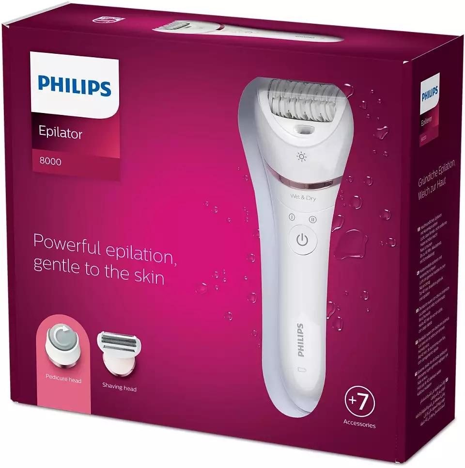 Philips Epilator Series 8000 Wet and Dry epilator BRE730 / 05 enlarge