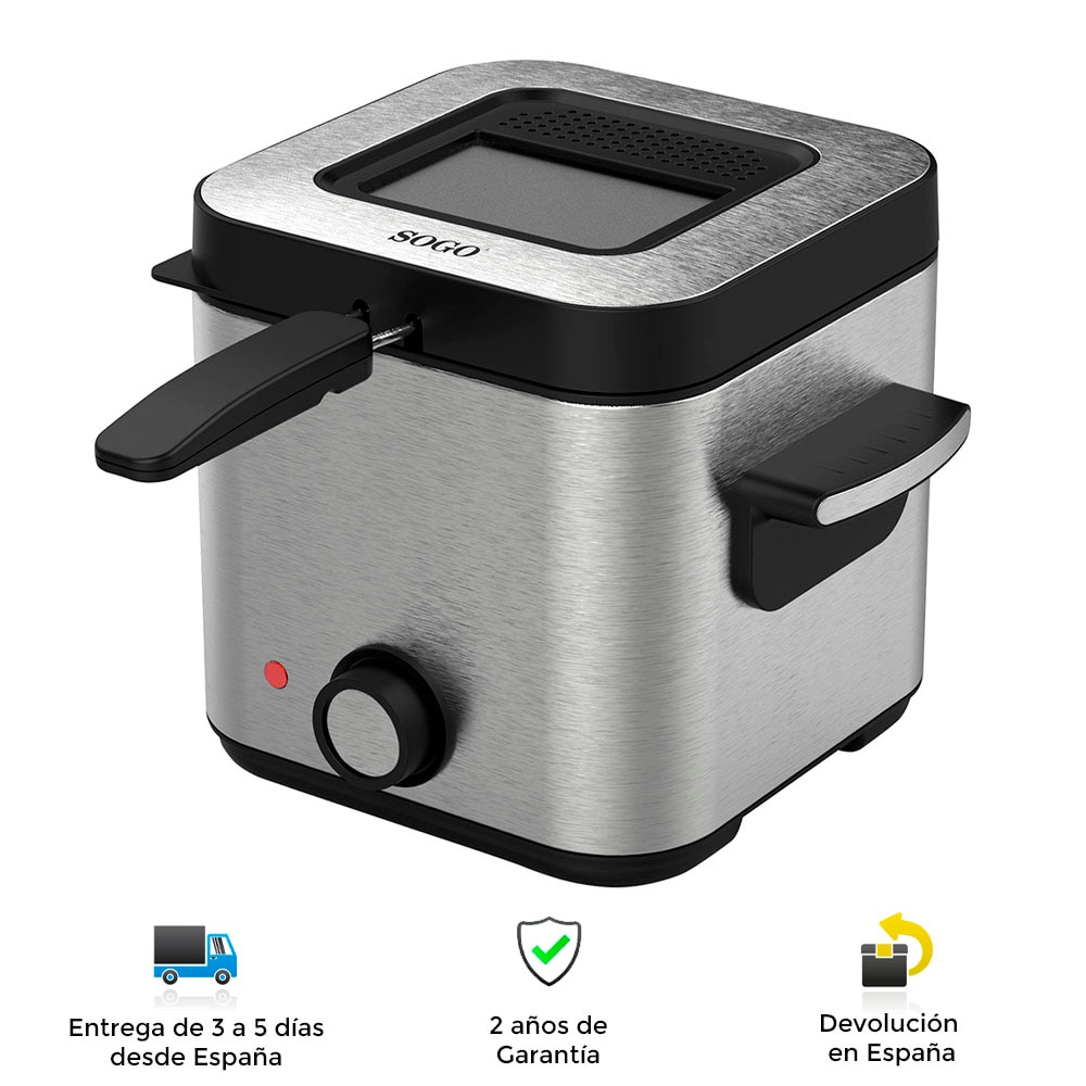 Electric fryer, stainless steel, fast, powerful, safe, clean, modern, fried, thermostat, Fryer, electric fryer