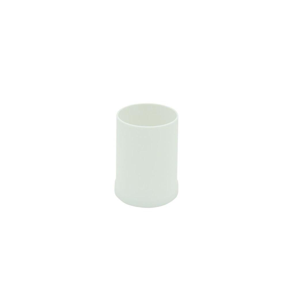Vaso portacepillos de dientes para baño VINTAGE HIPS libre de BPA Blanco mate