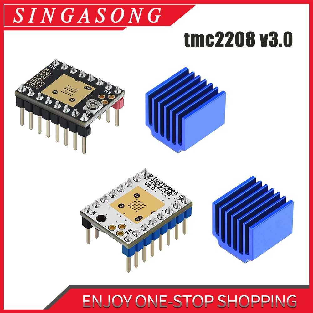 Stepstick TMC2208 V 3,0 Schrittmotor Fahrer 3D Drucker Teile TMC2130 TMC2209 TMC5160 Für SKR V 1,3 V 1,4 MKS GEN Rampen 1,4