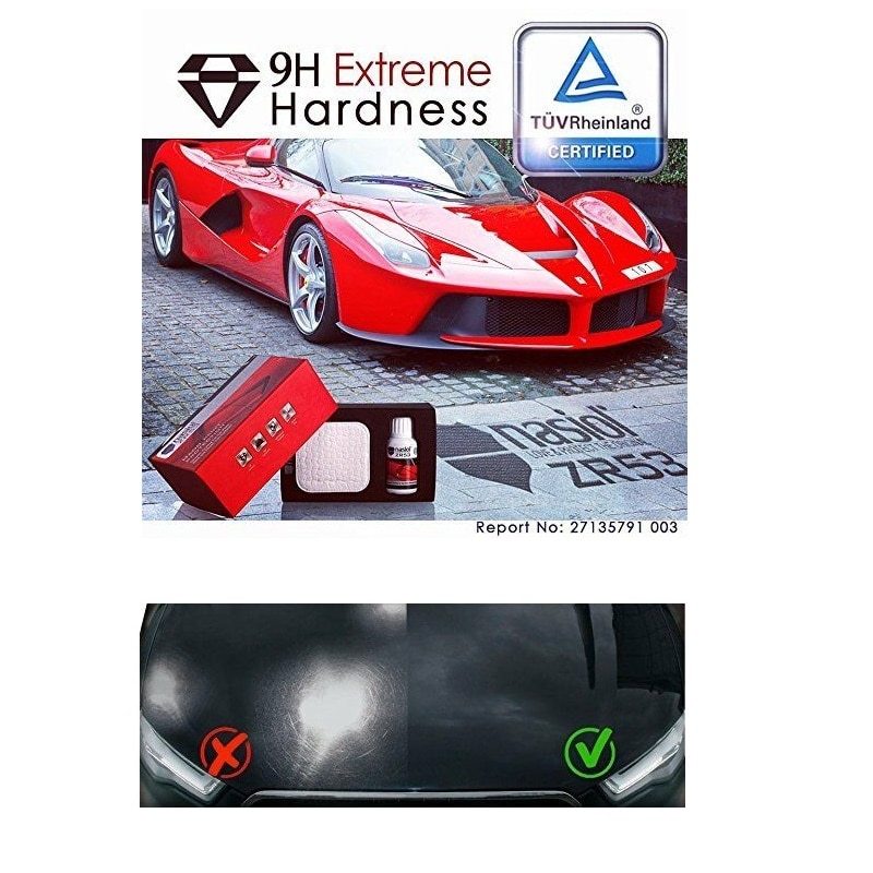 Protection céramique pour voiture ZR 53   Nasiol 9H revêtement de dureté extrême pour la Protection contre les rayures et les peintures Nano