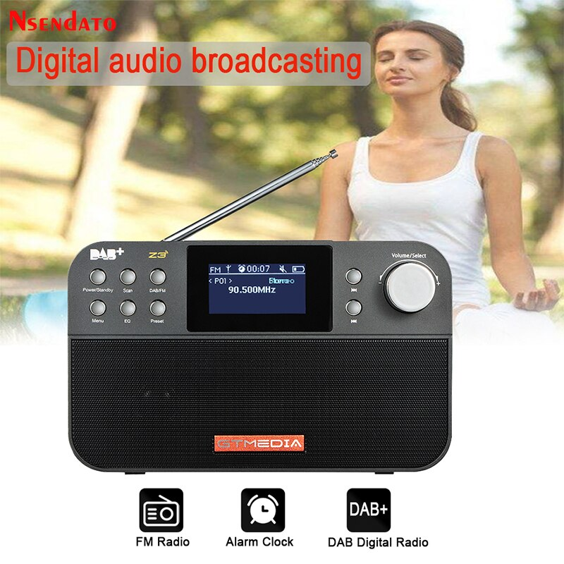 GTMEDIA-مكبر صوت راديو محمول Z3 ، راديو FM DAB ، ستيريو ، RDS ، شاشة LCD ، ساعة منبه ، دعم بطاقة Micro SD TF
