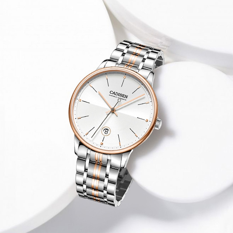 CADISEN Design2021Top Brand Luxury Ladies Automatic Mechanical Watch Business Waterproof Sports Sapphire Watch Relogio Masculino enlarge