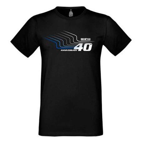 Camiseta 40Th Sparco Tg. M Negra