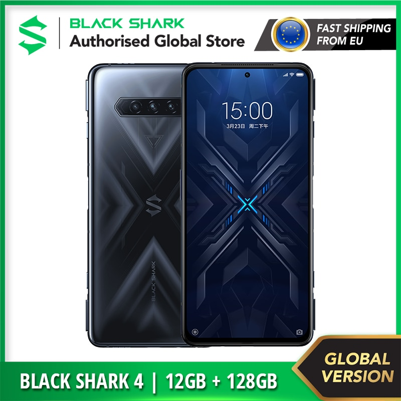 Global Version Black Shark 4 | 128GB ROM 12GB RAM 5G ( Brand New / Sealed ) Snapdragon870 Gaming Smartphone Cellular Mobile
