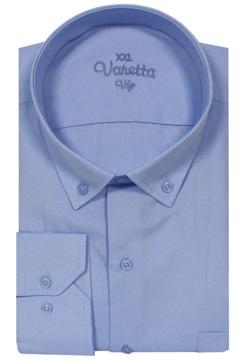 Varetta Plus Size 8XL 4XL Formal Dresses Big Size Men Oxford Business Casual Long Sleeve Classic Striped Solid Male Social Dress Brand Shirt Blue Fashion Elegant Large Size Plaid Brand Clothing Camisa Masculina For Men