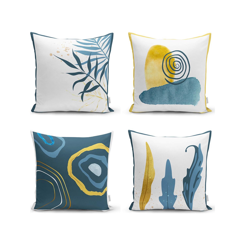 4 قطعة المخدة الملونة الزخرفية كيس وسادة أريكة السرير وسادة غطاء ديكور المنزل 43x43 سنتيمتر дома مجموعة من 4 صنع في تركيا