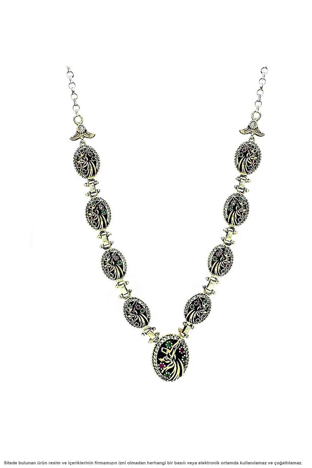 Silver Whirling Dervish Design Choker Necklace