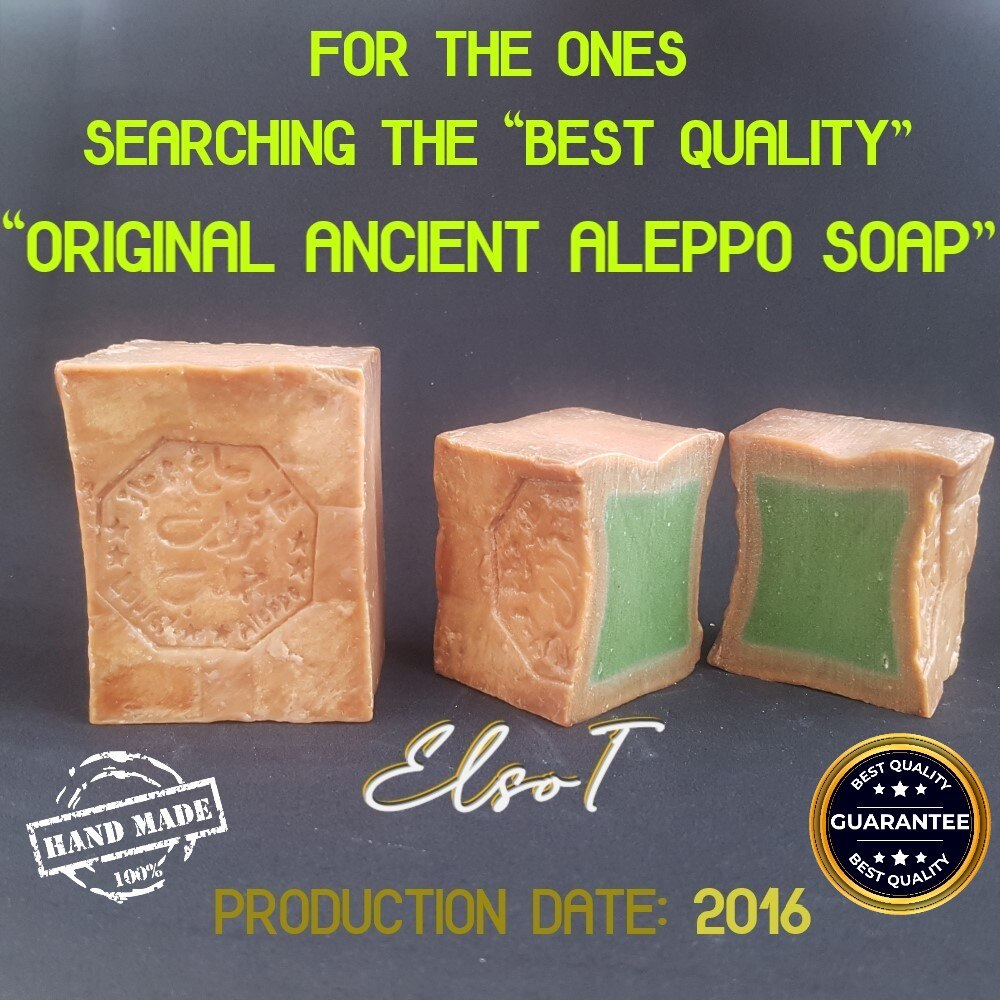 Original Aleppo Soap Best Ever % 40 Laurel Oil Organic Handmade Turkish Syrian Traditional Dried Antique Daphne Olive Hair bo