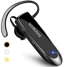 SOJBODOS Wireless headsets for smartphones Bluetooth Earpiece V5.0 Wireless Handsfree Headset with M