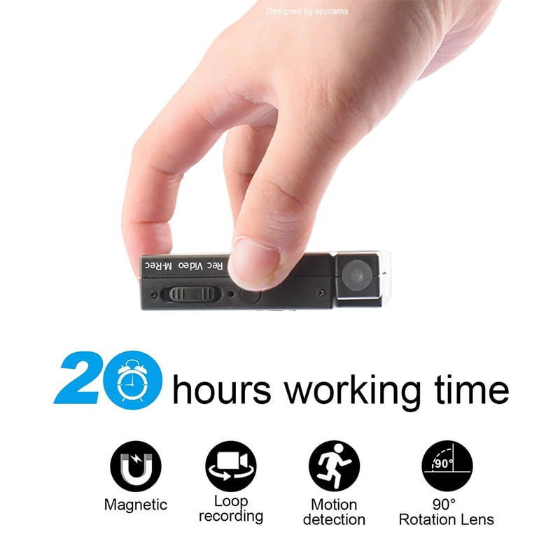 20 Hours Video Recording Mini Camera sport DV  Video and Audio Recorder Mini Camcorder support Motion Detection hidden TF card