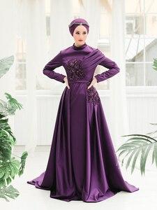 Hijab Women Evening Dress Ultra Luxury New Season Special Design Tail Detailed Islamic World Muslim Dubai Modanisa High Quality