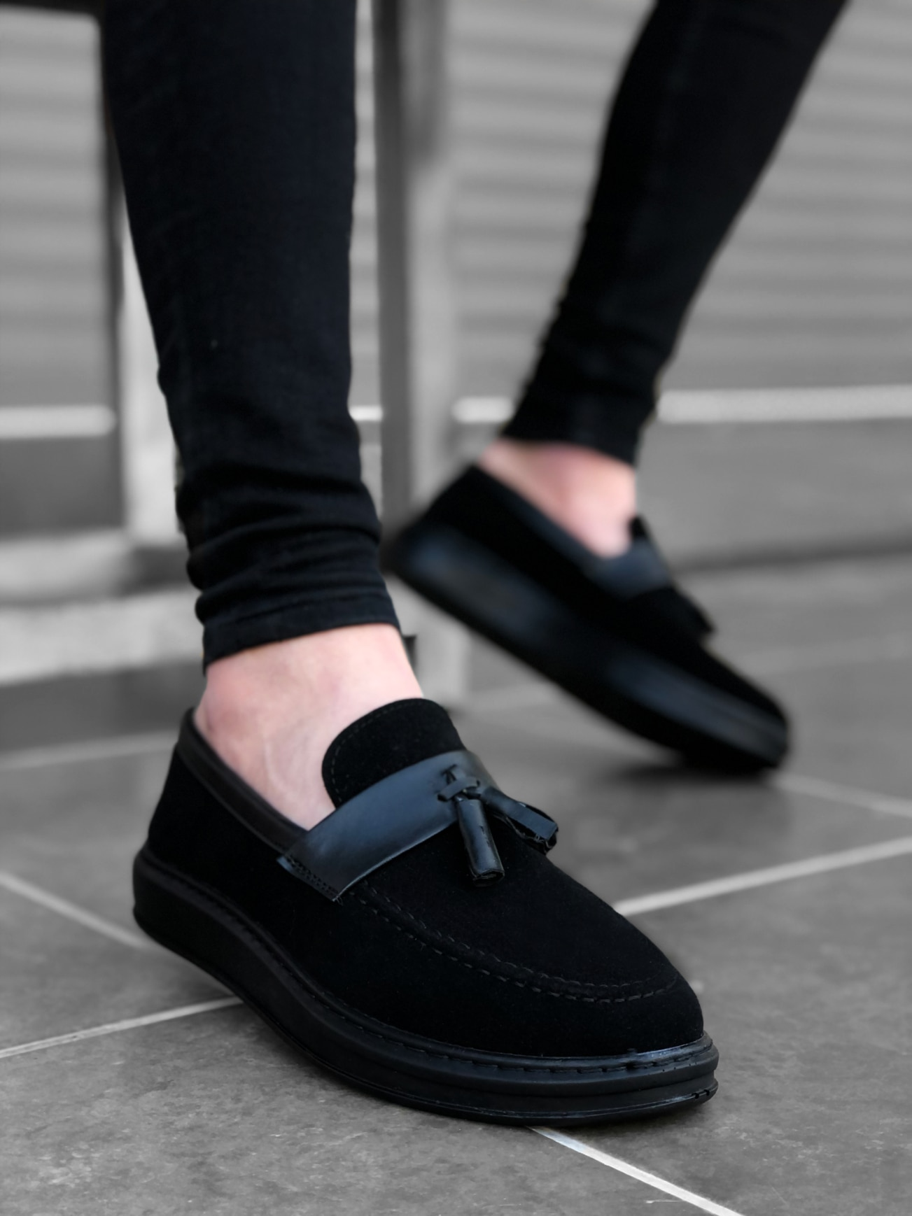 ALTEA BA0005 الرجال حذاء كاجوال أحذية الكتان الموسمية عالية قاعدة براءات الاختراع والجلود أحذية مشي العظام الكلاسيكية Tasseled Corcik