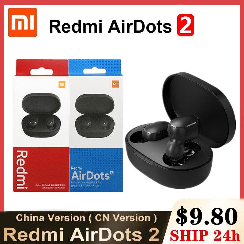 Original Xiaomi Redmi Airdots S Airdots 2 Bluetooth Earphones Mi Wireless Headphones TWS Earbuds Air Dots Headset Noise Control
