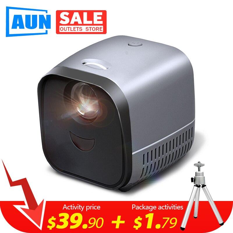 Супер мини портативный проектор L1   USB светодиодный проектор для видеосъемки для домашнего кинотеатра 1080P HDMI USB медиаплеер высококачественн...