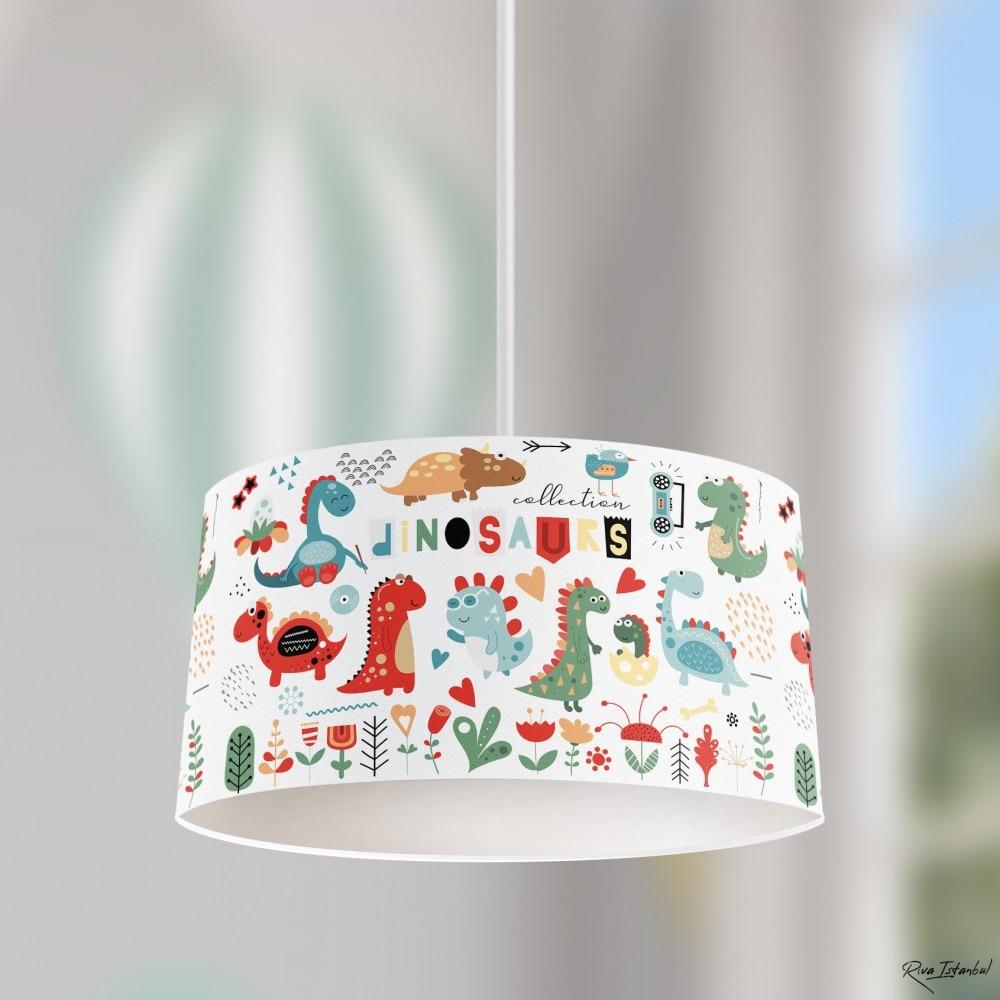 الديناصورات الصبي الطباعة منقوشة الاطفال غرفة نوم الطفل ضوء قلادة مصباح الثريا