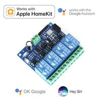 Apple Homekit     commutateur Assistant Google pour maison intelligente  4 relais  WiFi  automatisation des contacts secs  telecommande ESP01  nouveau Module