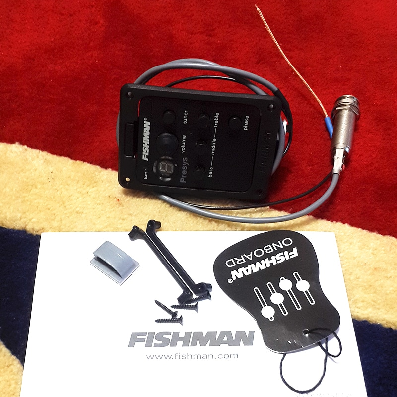 Fishman Acoustic Guitar Pickups 101 PRESYS Onboard Guitar Preamp/EQ With Tuner LED enlarge