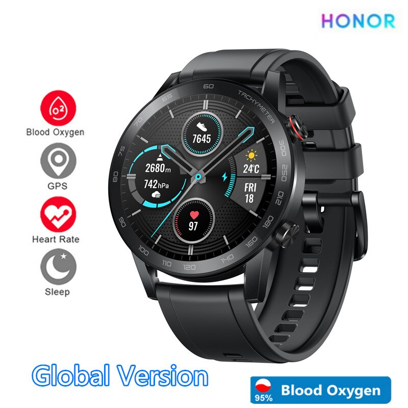 Reloj inteligente Honor Magic 2 Huawei a prueba de agua Bluetooth5.1 Magicwatch 14 días corazón sangre Fitness Tracker para Android iOS