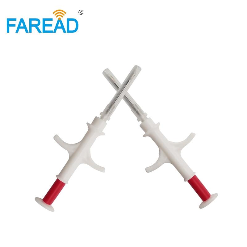 A seringa padrão 13.56mhz do microchip de nfc iso15693 implantou a microplaqueta 2.12x12mm com o transponder de vidro da etiqueta do rfid da microplaqueta da microplaqueta da microplaqueta da microplaqueta