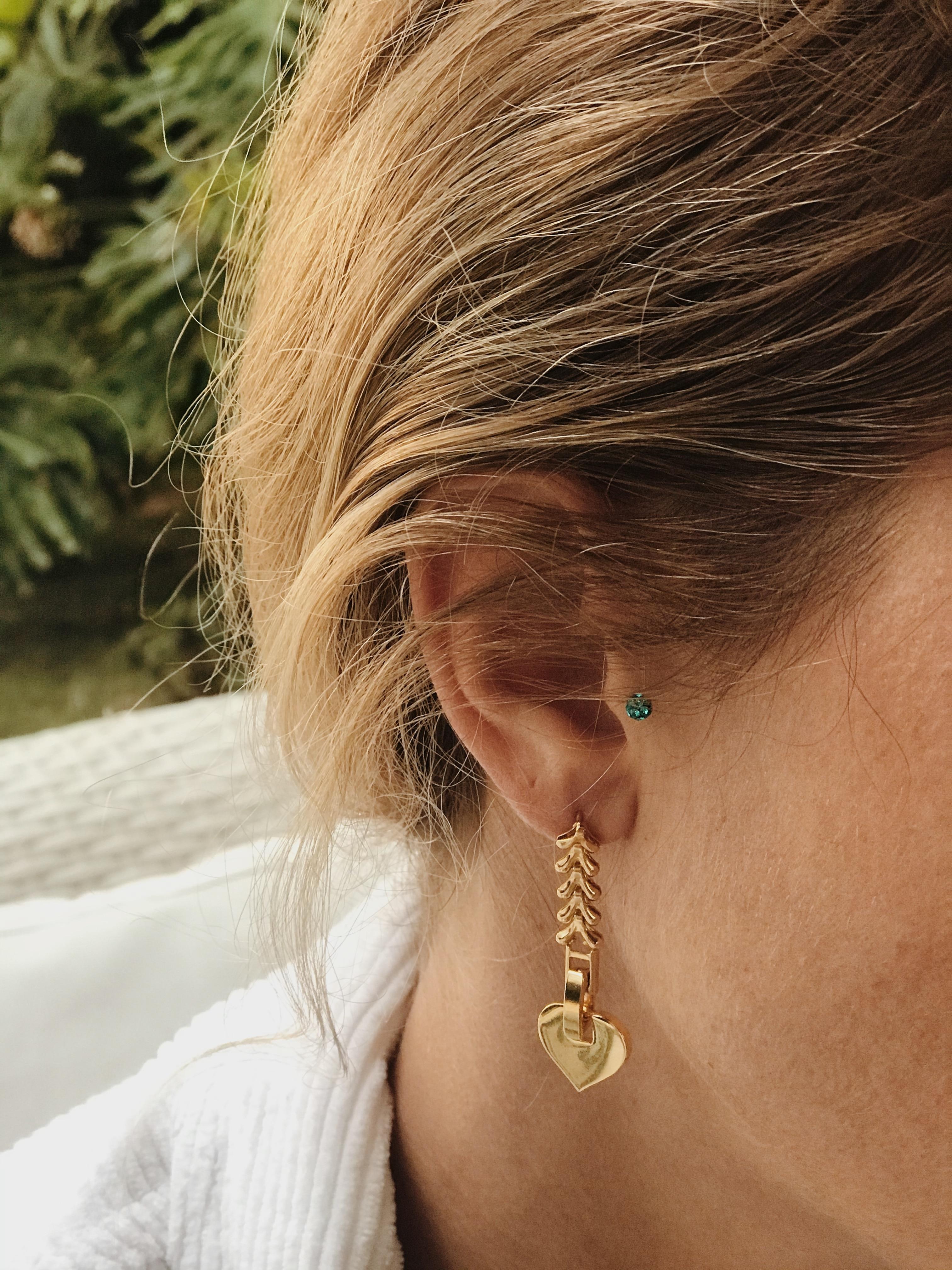 GULCE DERELI-أقراط ساحرة ، رمز قلب صغير ، أقراط سلسلة إنفينيتي ، علبة هدايا ، مطلية بالذهب والفضة