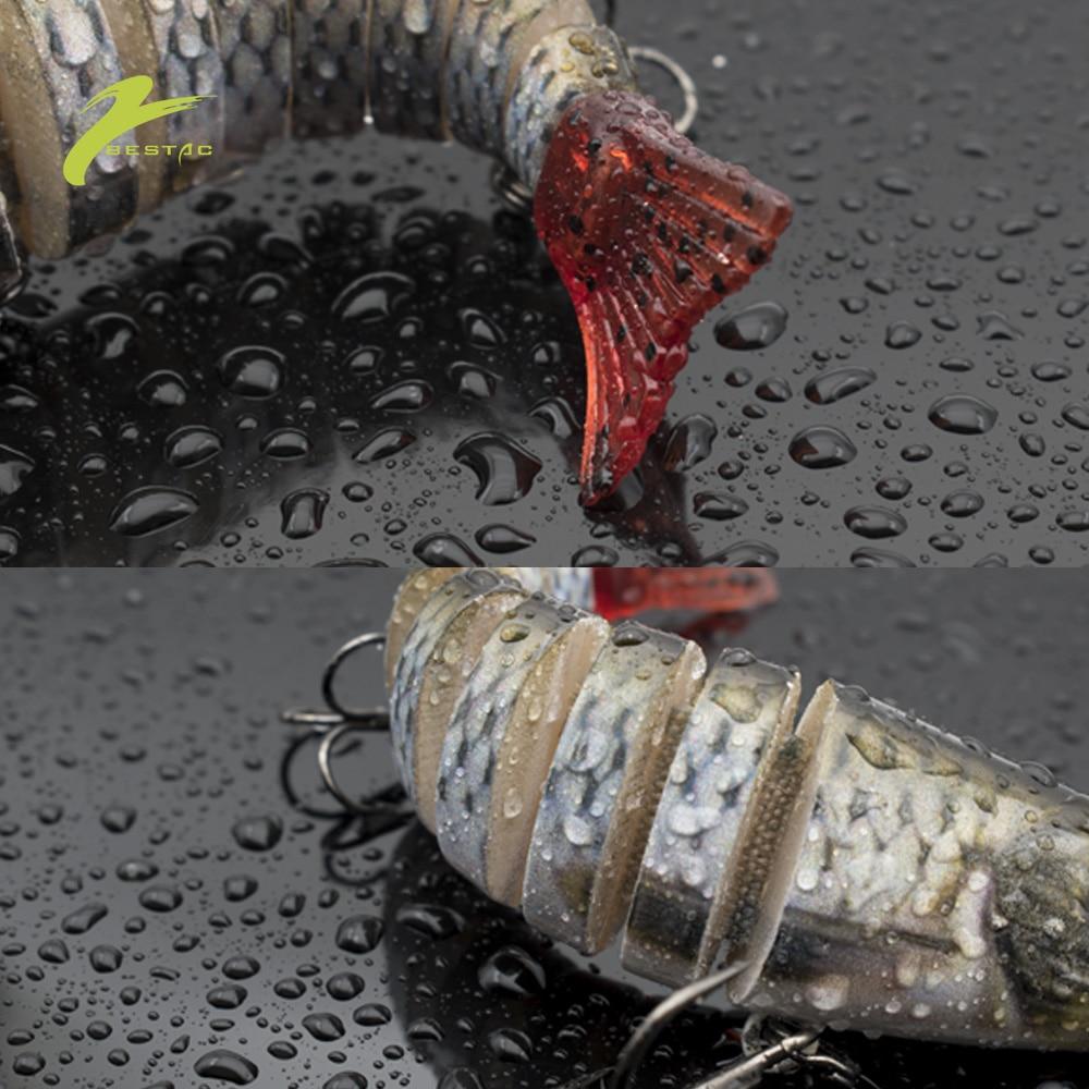 Plastic Lure Multi Sections 3D Soft Hard Bait 8.5cm 11cm 13.5cm Bionic Artificial Swimbait Wobbler Spare Tails Triggle Hook