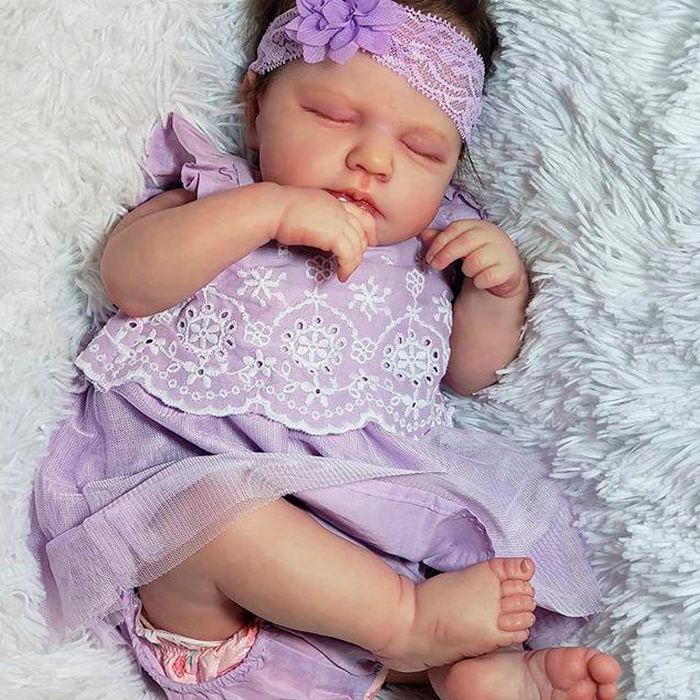 RBG 20 Inches LouLou DIY Blank Kit Reborn Baby Dolls Lifelike Newborn Bebe Vinyl Unpainted Surprise Gift Toys For Girls LOL