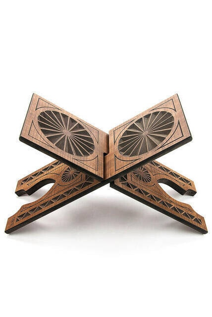 Wooden Adjustable Prayer Quran Holder Stand Ramadan Gift Rihal Rehal Wooden Carved Gift Quran Priest
