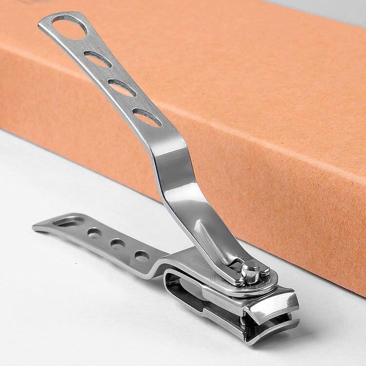 Unha clipper grau girar unha pedicure ferramenta arte giratória aparador de unhas manicure toe cortador tesoura