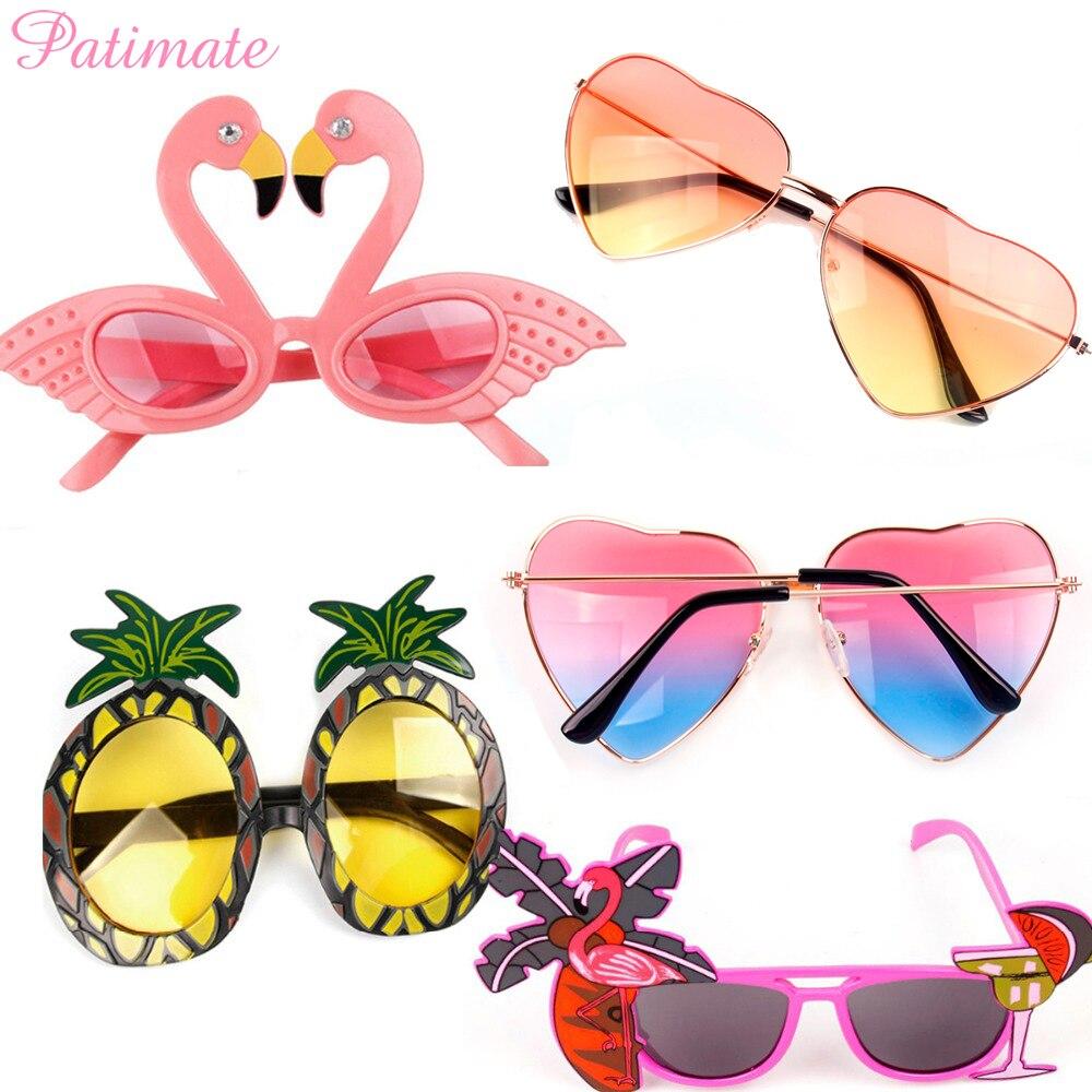 Patimate festa de praia novidade flamingo decorações de festa decoração do casamento abacaxi óculos de sol havaiano engraçado óculos fontes do evento