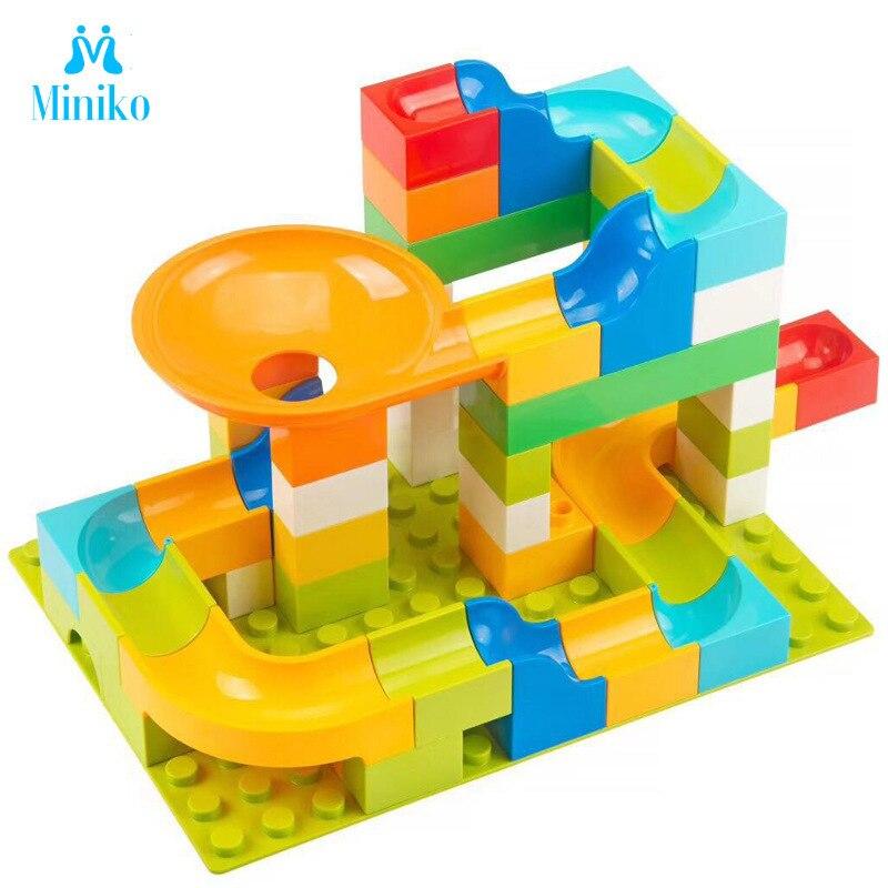 Bloques de construcción de mármol Dolle Duplo compatibles con Happy High Ball bloc Hundred Change Slide Building Block juguetes para niños
