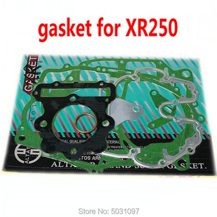 Kits de juntas de reparación completa de motocicleta, envío gratis, set para Honda XR250 XR 250, juego completo de reparación de motor