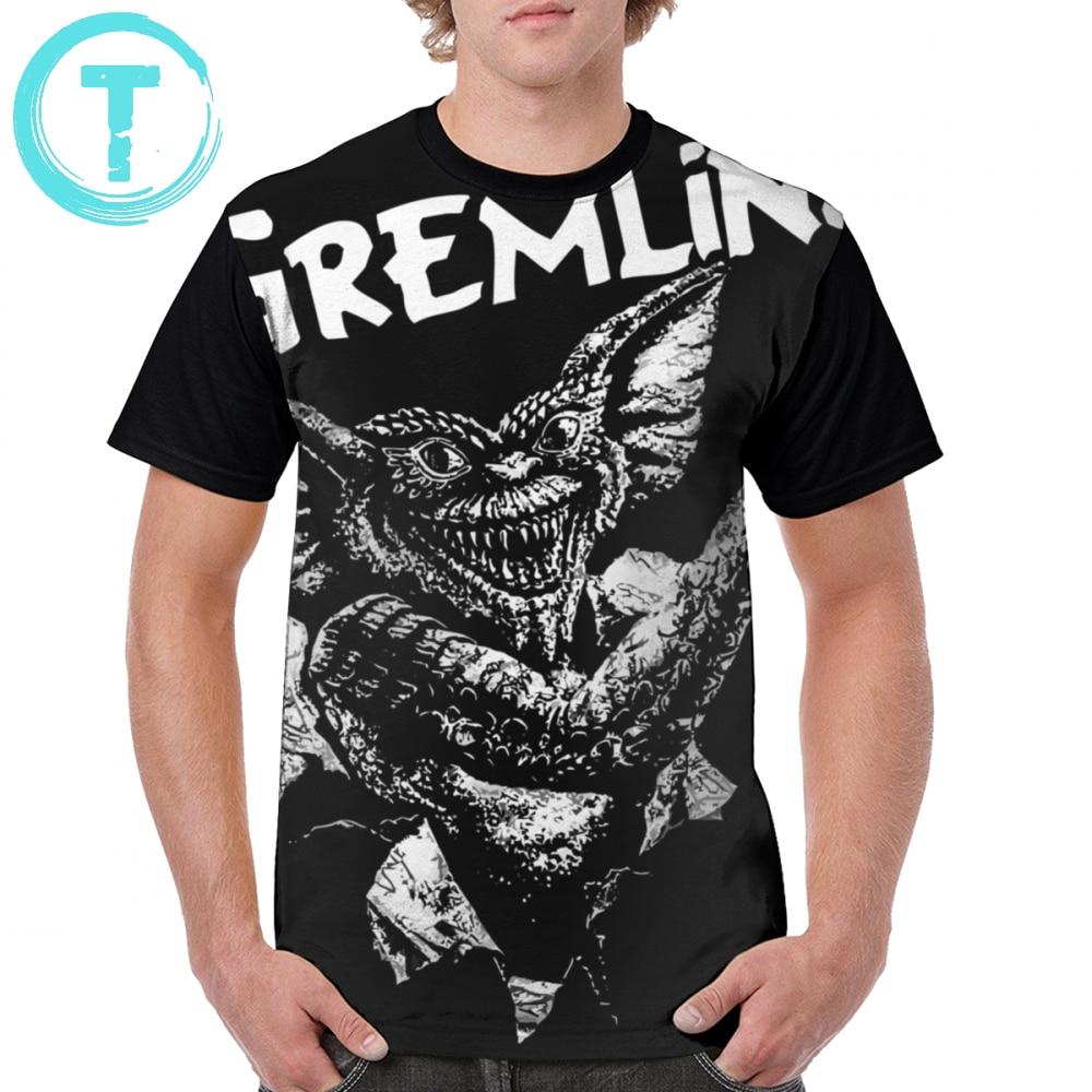 Gremlins camiseta de poliéster de gran tamaño gráfico camiseta divertida de moda masculina Camiseta de manga corta impresa